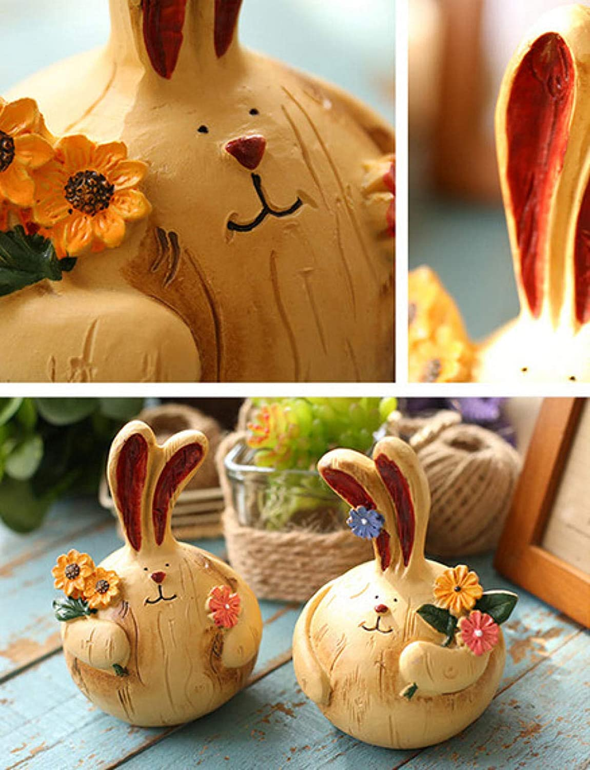 Decoracion Ceramicacreative Dressing Table Rabbit Decoration Decorations Home Bedroom Small Furnishings Dormitory Room Home Personality Girl Heart