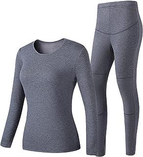 ZLZNX Men's & Women's Thermal Underwear Electric Heating Underwear Set Cold Proof Leisure Easy Care Winter Couple Sports O...