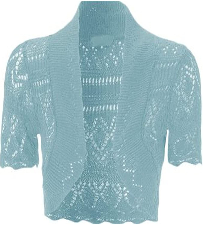 ZJ Clothes Crochet Knitted Shrug Cap Sleeve