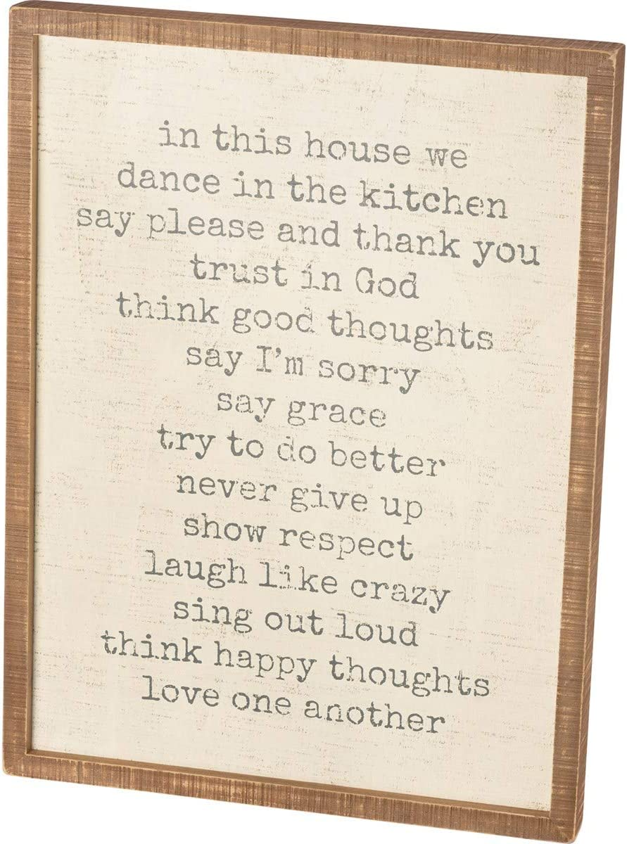 Primitives by Kathy Factory outlet 38488 Distressed Inset This Box in Large discharge sale Hou Sign