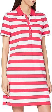 BRAX Women's Style Gweneth Dresses Piqué Stripes Baumwollkleid Polokragen Gestreift