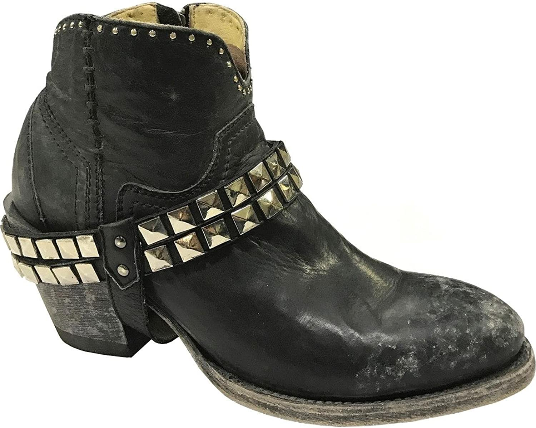 CORRAL Woherrar Studes and Harness Anness Boot Round Toe Toe Toe svart 9  spara upp till 80%