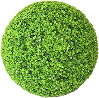Yunhigh Artificial Boxwood Ball Topiary Plant Faux Decorative Plant Ball Green Grass Ball Greenery Globe for Wedding Shopping Mall Christmas Home Decor(2pcs, 12cm)