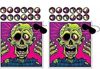 Pin The Eyeball On The Zombie Game, 2 pack