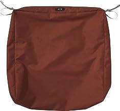 "Classic Accessories Ravenna Square Patio Seat Cushion Slip Cover, Spice, 25"" x 25"" x 5"""
