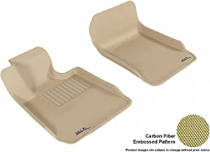 3D MAXpider Front Row Custom Fit All-Weather Floor Mat for Select BMW 3 Series Sedan (E90)/ Coupe (E92) Models - Kagu Rubber (Tan)