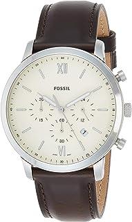 ساعة يد فوسيل كوارتز للرجال، انالوج بعقارب وحزام جلدي