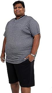 Big and Tall Size PJS Plain Pyjamas Set Plus Size Nightwear - Black Stripe