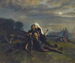 Berkin Arts Peter Nicolai ARBO Giclee Canvas Print Paintings Poster Reproduction(After The Battle) Super Large 46.5 x 39 inches #SDFB