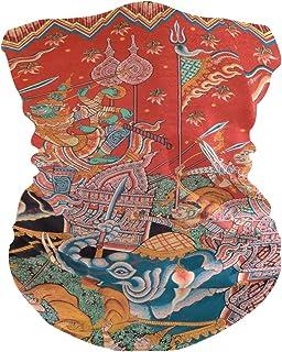 Sawhonn Arte De Pintura Mura Nativa Tailandesa PañueloPolaina Mascara Facial Bandana Cintas de Pelo Pasamontañas Diademas Headwraps Bufanda para Deportes Mujeres Hombres