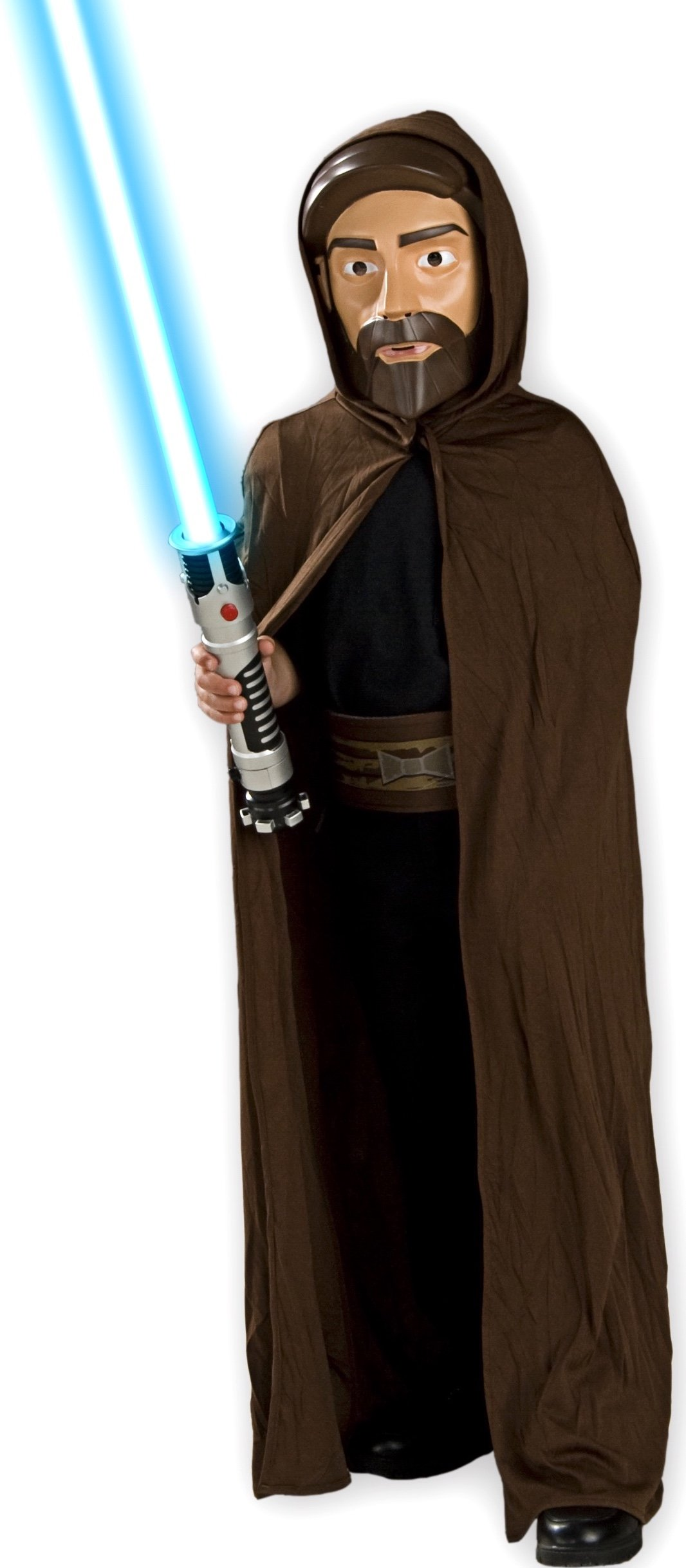 LICENSED HOODED JEDI ROBE OBI-WAN ANAKIN LUKE SKYWALKER STAR WARS COSTUME