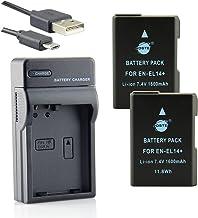 DSTE® アクセサリーキット Nikon EN-EL14 EN-EL14A 互換 カメラ バッテリー 2個+USB充電器キット対応機種 D3100 D3200 D3300 D3500 D5100 D5200 D5300 D5500