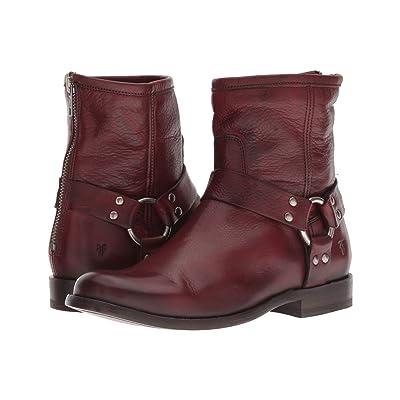 Frye Phillip Harness Short (Burnt Red Soft Vintage Leather) Women