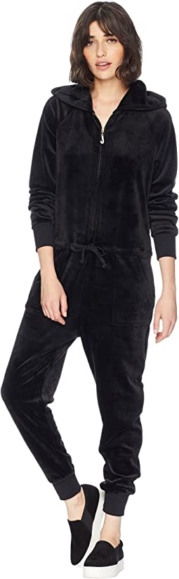 Track Luxe Velour Jumpsuit w/ Charm Pull