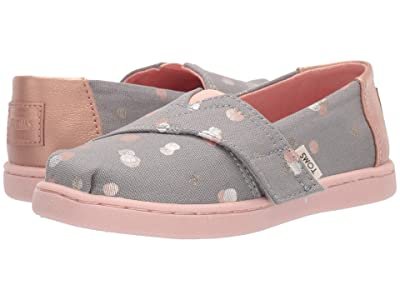 TOMS Kids Alpargata (Infant/Toddler/Little Kid) (Drizzle Grey Party Dots) Girl