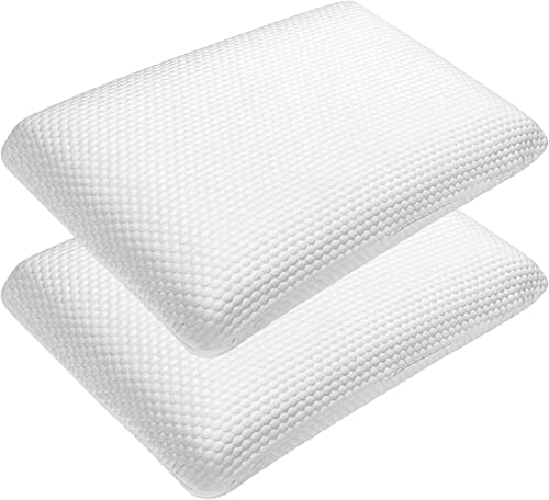 high quality Giantex Memory Foam Pillow 2 Pack, Ventilated Comfortable high quality Ergonomic Bed Pillow w/ Zippered Washable Cover, Supportive online Rectangular Pillow for Back Side Stomach Sleepers, White online sale