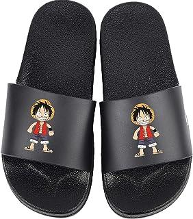 VICTORDOMO Femmes Hommes Maison glissière Plate Bain Douche Sandales pour Cosplay Japonais Anime One Piece Monkey D. Luffy...