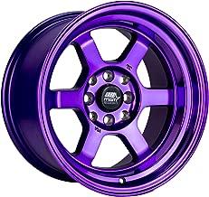 MST Time Attack Rim 15x8 4x100 / 4x4.5 Offset 0 Purple (Quantity of 1)