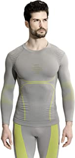 +MD Men's Long Sleeve Compression Shirt Dry Fit Athletic Baselayer Top for Workout Gym Fitness