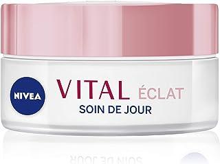 NIVEA Vital Éclat Soin De Jour Peaux Matures (1 x 50 ml), crème hydratante visage à l'huile de pétales de Rose & Calcium, ...