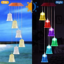 xxschy LED Lights Solar Wind Chimes Outdoor - Waterproof Solar Powered LED Changing Light Color 6 Lights Mobile Romantic Wind-Bell for Home, Party, Festival Decor, Night Garden Decoration