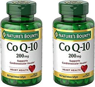 Set of 2 Nature's Bounty Co Q-10 200 mg, 80 Tablets