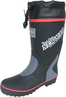 防寒長 防雪長 長靴 雨靴 カラー ワークブーツ 冬用 作業長 防水 ウレタン フード付 暖かい 耐寒 雪中 2色 メンズ (25.5 cm, ブラック)