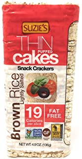 Suzie's Puffed Rice Thin Cakes, Lightly Salted, 4.9oz Bags (Pack of 3)