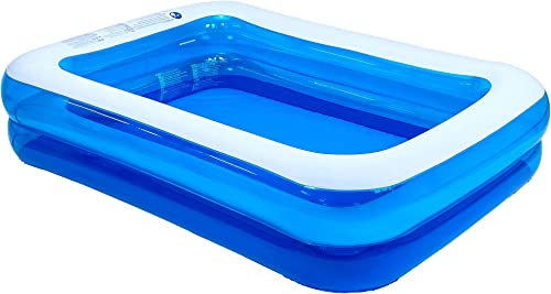 "lowest Jilong outlet sale outlet sale Rectangular Inflatable Kiddie Pool, Blue, 79"" x 59"" x 20"" sale"