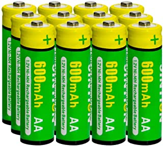 JINTION Rechargeable AA Batteries for Solar Lanterns Replacement NiMh AA 600mAh 1.2V AA Solar Batteries Replace for Solar ...