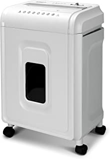 Aurora AU1262XA Anti-Jam 12-Sheet Crosscut Paper and CD/Credit Card Shredder, White/Gray