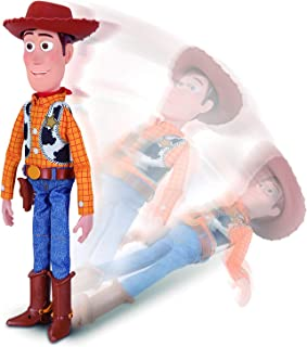 Disney Pixar Toy Story 4 Sheriff Woody, with Interactive Drop-Down Action