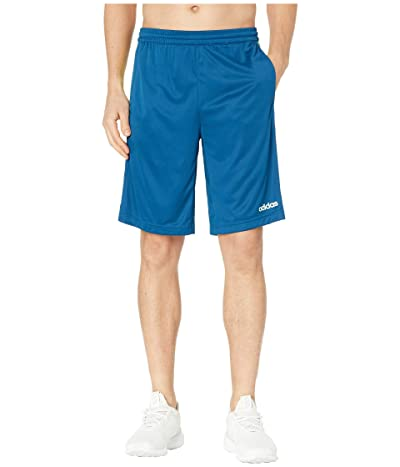 adidas D2M 3-Stripe Shorts (Legend Marine/Hi-Res Yellow) Men