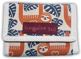 Bungalow 360 Trifold Vegan Wallet (Sloth)