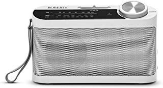 Roberts Radio R9993 Portable 3-Band LW/MW/FM Battery Radio with Headphone Socket - White
