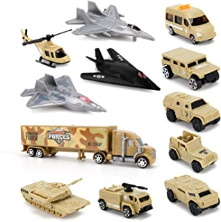 Liberty Imports Special Forces Military Vehicles Scaled Army Toy Playset - Stealth Bomber, Tank, Helicopter, Jets and More!