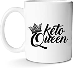Keto Coffee Mug Funny Cute Diet Gift for Queen Mom Sisters Women Divas and Lo Carb Lovers Keep Calm AF With This Prime Mug by Mugish 11oz