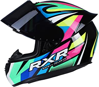 Romacci Capacete de motocicleta Capacete de rua rápido de rosto inteiro Unissex Adulto Cool Rider Equipamento Four Seasons...
