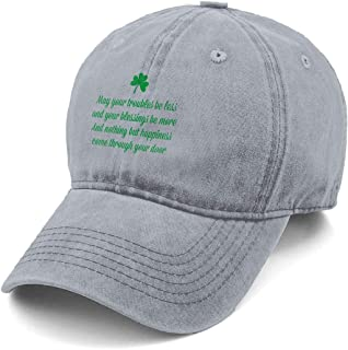 8869b8a954db9 St Patricks Day Quotes Denim Hat Adjustable Washed Dyed Cotton Dad Baseball  Caps Black