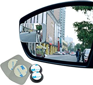 Ampper Blind Spot mirror, Square HD Glass Convex Rear View Mirror, Strengthened Adhesive and Upgrade Stick Area, Pack of 2...
