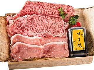 すき焼きセット 茨城そだち 常陸牛A5 霜降り肩ロース ローズポークロース 肉のイイジマ