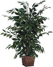 Vickerman 4' Artificial Ficus in Square Willow Container