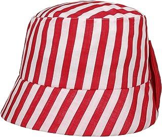 Lipodo Cappello in Tessuto Jassi Stripes Donna - Made Italy Estivo Cotone da Sole Primavera/Estate