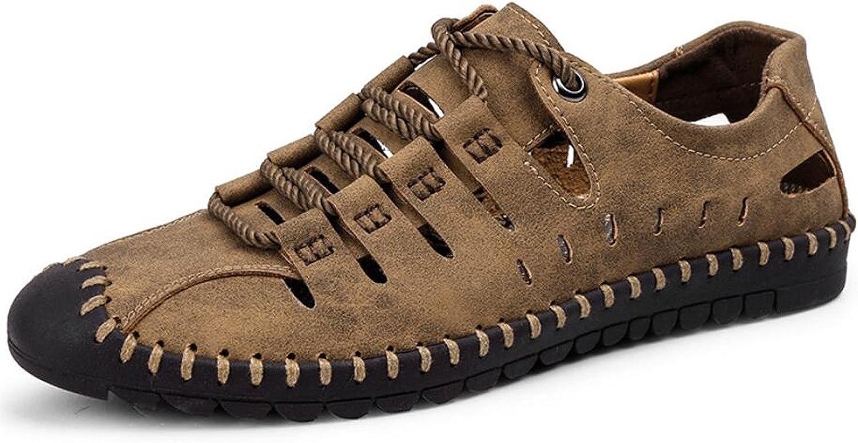 DANDANJIE Men's Hole shoes Sandals Summer Comfort Sandals Outdoor Light Soles for Casual Black Brown