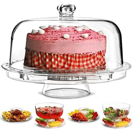 Conziv 3 in 1 Multifunction Cake Stand Wedding Birthday Cake Stand Acrylic Cake Stand