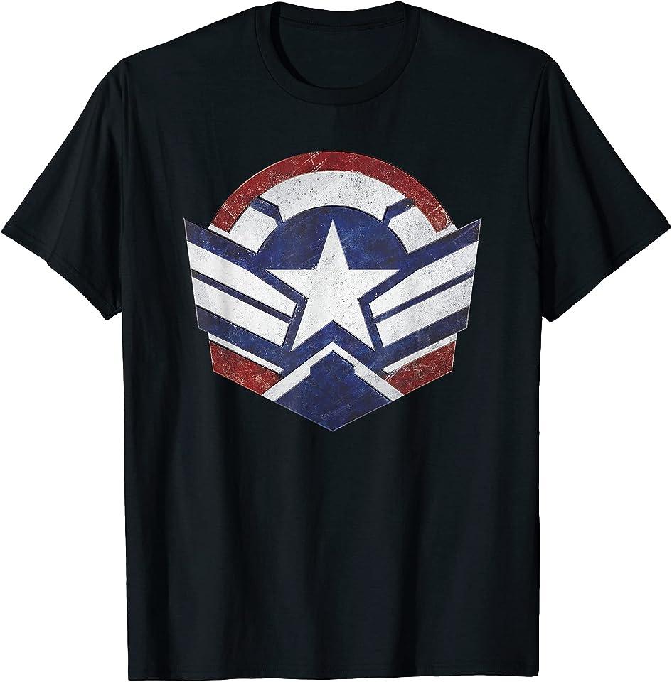 Falcon Winter Soldier Wings Shield Logo T-Shirt