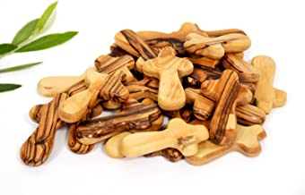 Olive Wood Small Pocket - Holding Crosses (25)