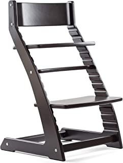 Black Heartwood Adjustable Wooden High Chair Baby Highchair Solution for Babies and Toddlers Dining Highchair from 24 Months