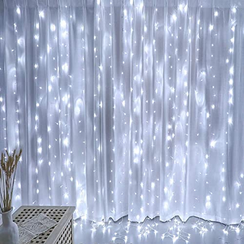 White Curtain Lights, Twinkle Lights for Bedroom, Decorations for Teen Girls, Garden Decor Lights, Romantic Wedding D...