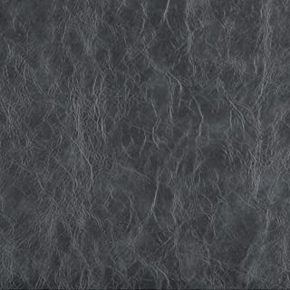G630 Grey Distressed Leather Look Upholstery Grade Recycled Leather (Bonded Leather) by The Yard